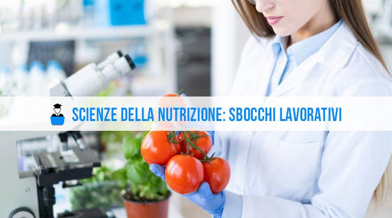 Scienze della nutrizione sbocchi lavorativi