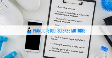 Piano di studi Scienze Motorie
