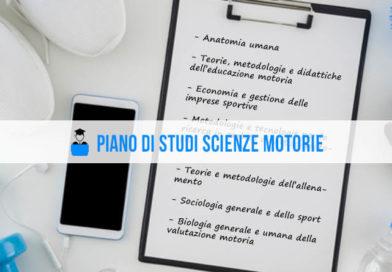 Piano di studi Scienze Motorie: materie dalla A alla Z
