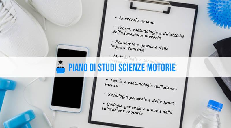 Piano di studi Scienze Motorie