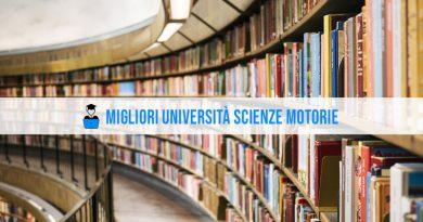 Università Scienze Motorie: la classifica 2021/2022